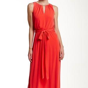 Vince Camuto Jersey Blouson Maxi Dress